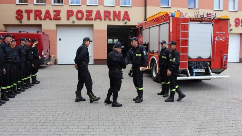 Powrót chodzieskich strażaków ze Szwecji