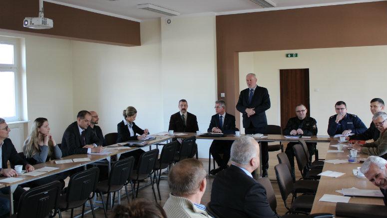 Posiedzenie Powiatowego Zespołu Zarządzania Kryzysowego w Chodzieży